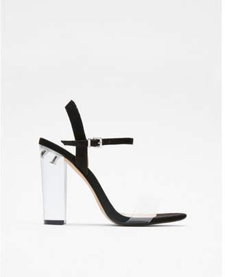 Express lucite heeled sandals