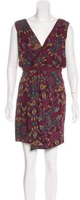 Rag & Bone Suede-Trimmed Printed Dress