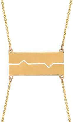 Established Horizontal Friendship Plate Necklace