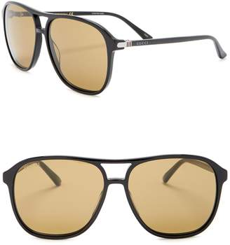 Gucci Navigator 58mm Sunglasses