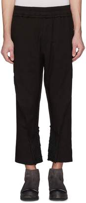By Walid 'Hiro' embroidered reconstructed cotton-linen jogging pants