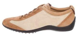 Tod's Suede Round-Toe Sneakers