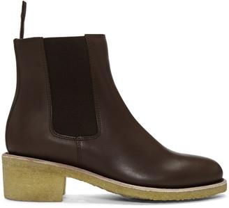 A.P.C. Brown Maisie Boots $575 thestylecure.com