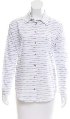 Marina Hoermanseder Striped Button-Up Top w/ Tags