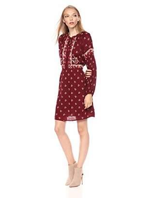 Lucky Brand Women's Border Print Dress