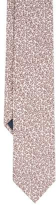 Duchamp London LONDON Pink Micro Floral Silk Tie