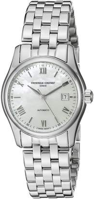 Frederique Constant FC303MPWN1B6B Women's Index Swiss Automatic Wrist Watches with Silver Band