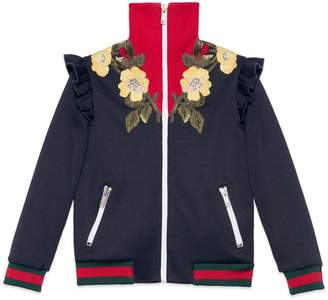 Children's jersey sweatshirt with embroidery $745 thestylecure.com