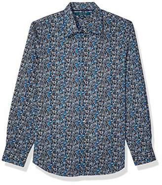 Perry Ellis Men's Floral Paisley Print Stretch Long Sleeve Shirt