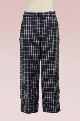 Thom Browne Checkered Woolen Cropped Pants