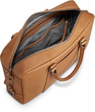 Men's Slim Signature Leather Briefcase