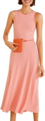 MANGO Long Ribbed Dress