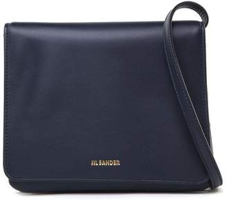 Jil Sander Rim Small Double-pouch Smooth-leather Cross-body Bag