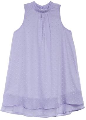 Soprano Swiss Dot Trapeze Dress