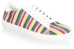 ALICE+OLIVIA Cassidy Rainbow Leather Sneakers QaJ7QmD