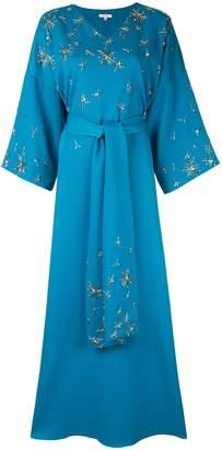LAYEUR beaded detail maxi dress