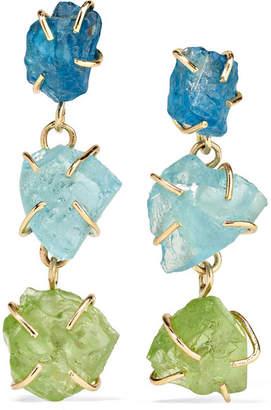 Melissa Joy Manning 14-karat Gold, Apatite And Peridot Earrings