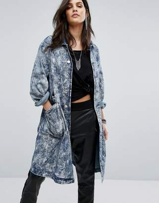 G-Star Boyfriend Overcoat with Paint Effect $253 thestylecure.com