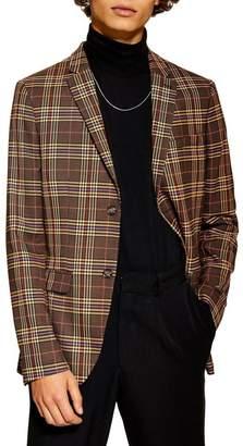 Topman Classic Fit Check Sport Coat