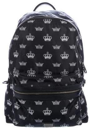 Dolce & Gabbana Crown Printed Backpack