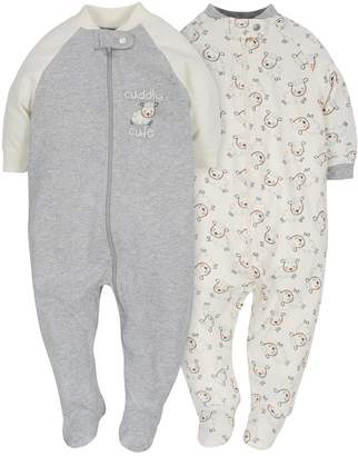 Gerber Baby Infant 2 Pack Organic Zip Front Sleep 'N Play