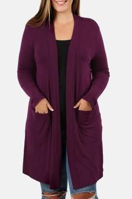Zenana Outfitters Plum Cardigan