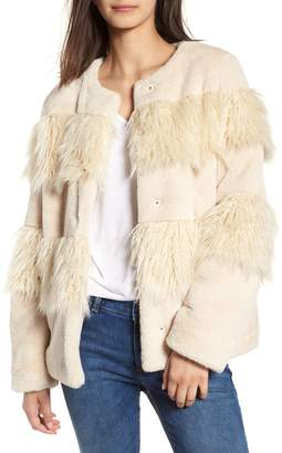 BCBGeneration Mixed Faux Fur Jacket