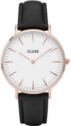 Cluse Women's La Boheme 38mm Leather Band Metal Case Quartz Watch CL18008