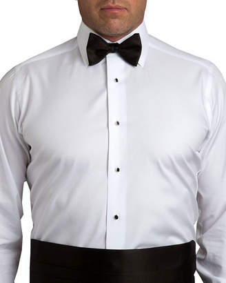 David Donahue Men's Satin Pre-Tied Bow Tie & Cummerbund Set