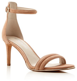 Kenneth Cole Mallory Suede Ankle Strap High Heel Sandals $130 thestylecure.com
