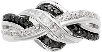 Black Diamond FINE JEWELRY CT. T.W. White & Color-Enhanced Weave Ring