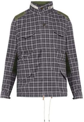 Junya Watanabe Checked Cotton Twill Jacket - Mens - Grey Multi