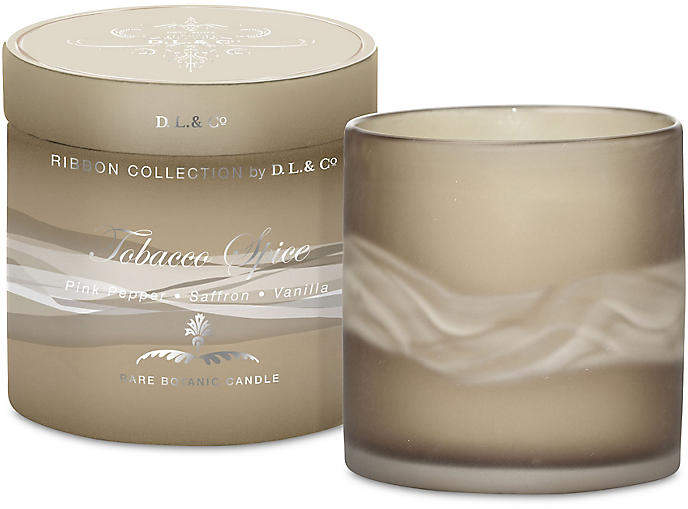 Ribbon Candle - Tobacco Spice