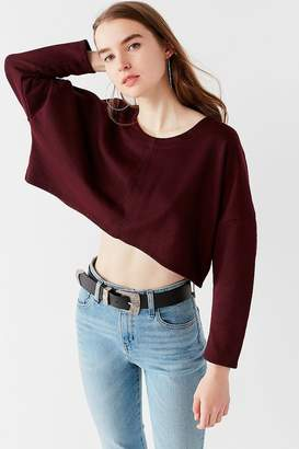 Truly Madly Deeply Roxy Cropped Pullover Tee