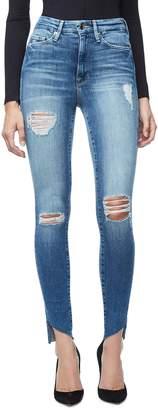 Good American Good Waist Cascade Hem Skinny Jeans