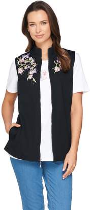 Factory Quacker Springtime Embroidered Vest and Short Sleeve T-shirt