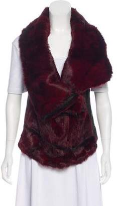 Helmut Lang Fur Leather Vest