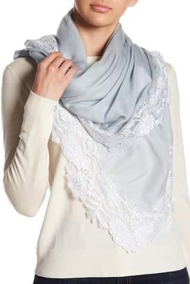 Bindya Lace Wool & Silk Blend Scarf