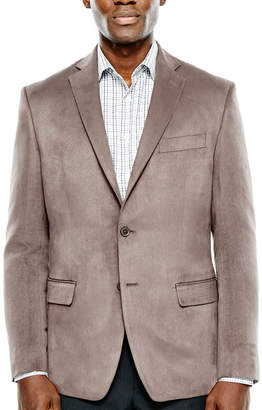 COLLECTION Collection by Michael Strahan Taupe Faux Suede Sport Coat-Classic