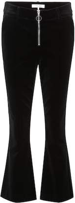 Frame Velvet cropped trousers