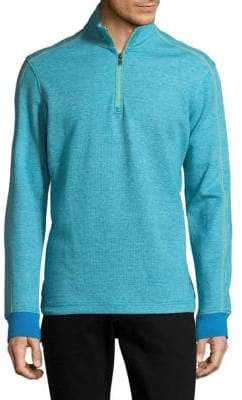 Robert Graham Half-Zip Cotton Sweater