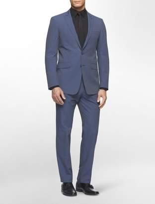 Calvin Klein x fit ultra slim striped cotton stretch 2-piece suit