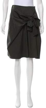 Dice Kayek Tie-Front Pleated Skirt
