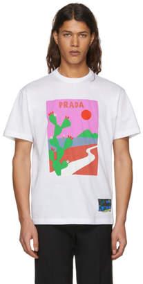 Prada White Sun T-Shirt
