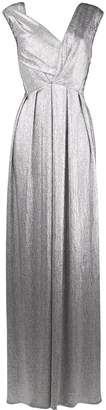 Talbot Runhof metallic pleated gown