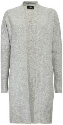 Wallis Grey Textured Longline Cardigan