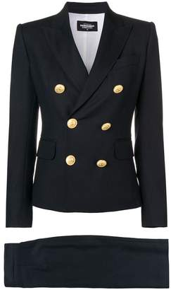 DSQUARED2 double-breasted skirt suit