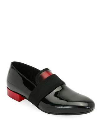 Alexander McQueen Men's Banded Patent Leather Formal Loafer