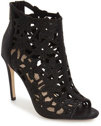 Women's Jessica Simpson 'Gessina' Studded Laser Cut Bootie $118.95 thestylecure.com
