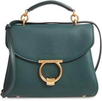 e538f2e096f Salvatore Ferragamo Small Margot Leather Top Handle Bag